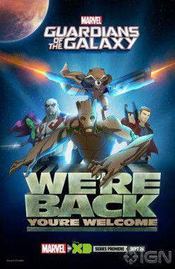 Guardioes da Galaxia serie poster Comic-Con