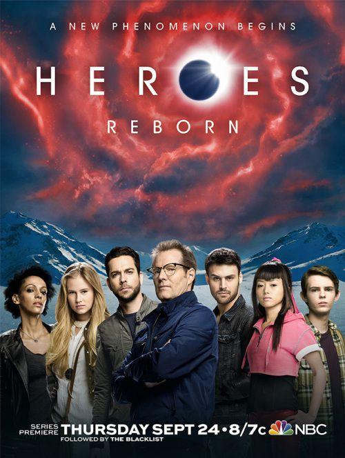Heroes Reborn poster elenco