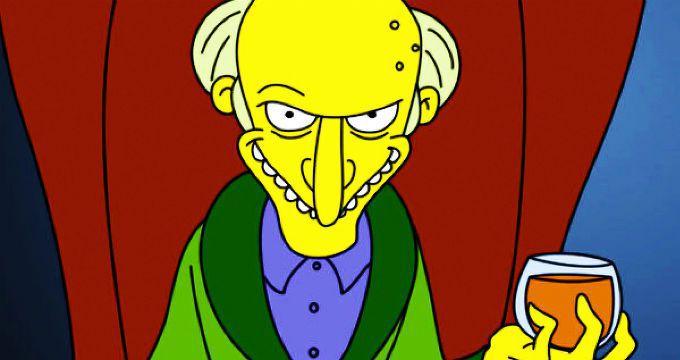 Os Simpsons Sr Burns