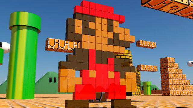Pixels Mario Bros
