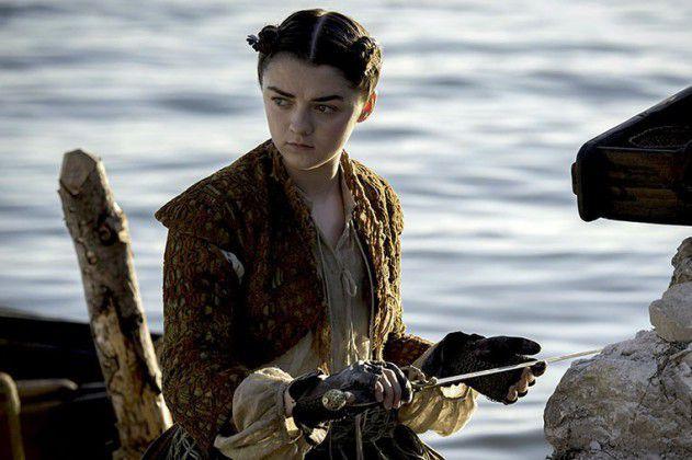 Maisie Williams como Arya em Game of Thrones