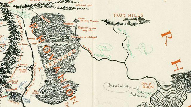 mapa senhor dos aneis O Senhor dos Anéis | Mapa perdido da Terra Média é achado nas  mapa senhor dos aneis