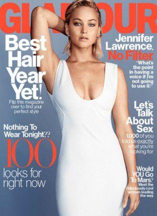 Jennifer Lawrence na capa da Glamour