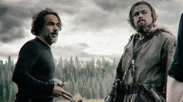 Alejandro G. Iñárritu e Leonardo DiCaprio nos bastidores de O Regresso