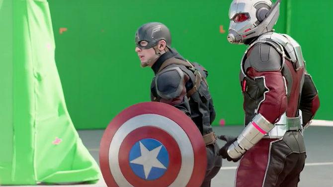 Resultado de imagem para Mais um vídeo de bastidores de Guerra Civil: Homem-Formiga é parte do time