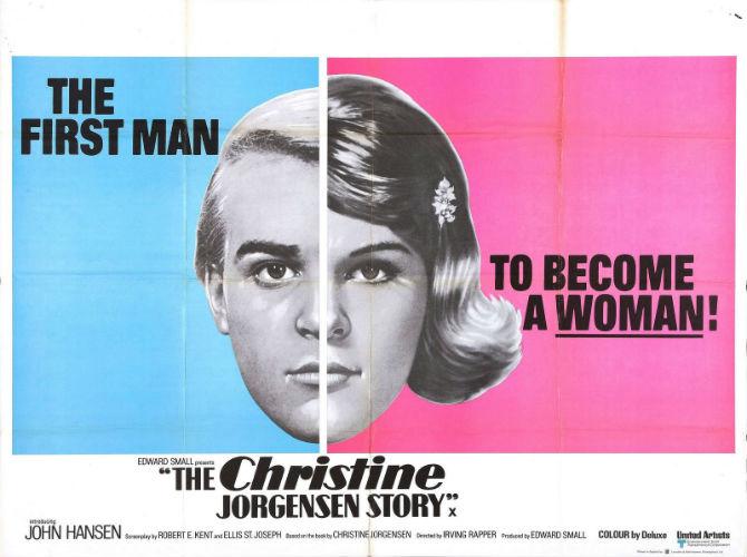 """Pôster de Quando o Sexo se Define (1970): """"O primeiro homem... a se tornar uma mulher!"""""""