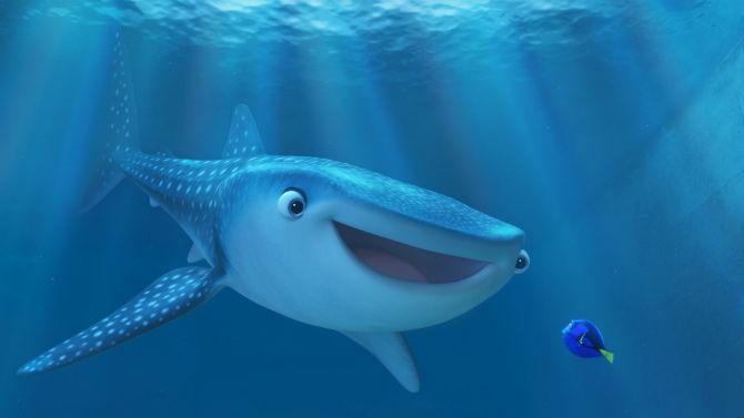 A baleia Destiny e a peixinha Dory