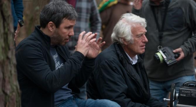 Denis Villeneuve e o diretor de fotografia Roger Deakins no set de Os Suspeitos (2013)