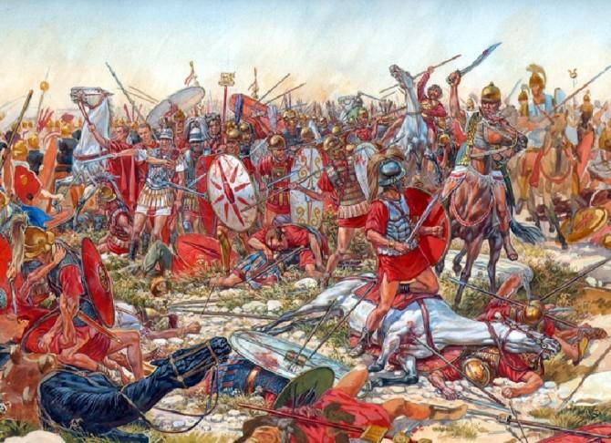 Representação da Batalha de Cannae