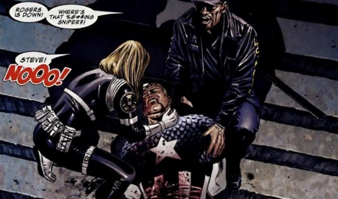 capitao america morte