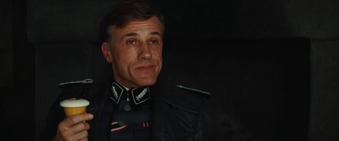 Christoph Waltz como o Coronel Hans Landa em Bastardos Inglórios