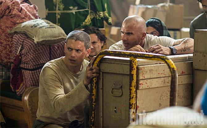 Wentworth Miller e Dominic Purcell em Prison Break