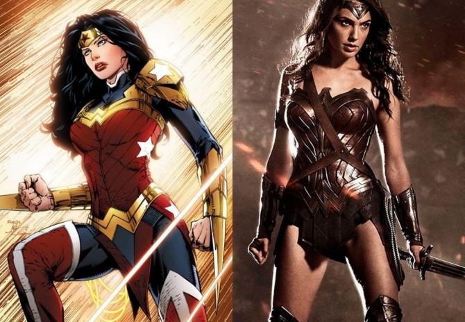 Novos uniformes da Mulher-Maravilha nas HQs e no cinema