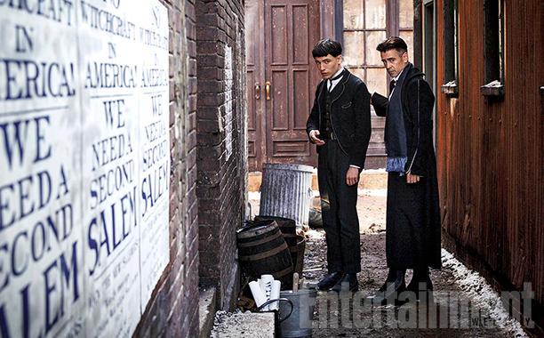 Ezra Miller e Colin Farrell em Animais Fantásticos
