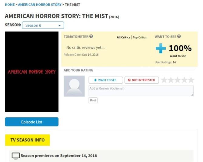 Página no Rotten Tomatoes