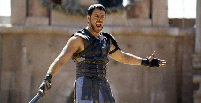 Russell Crowe em Gladiador (2000)