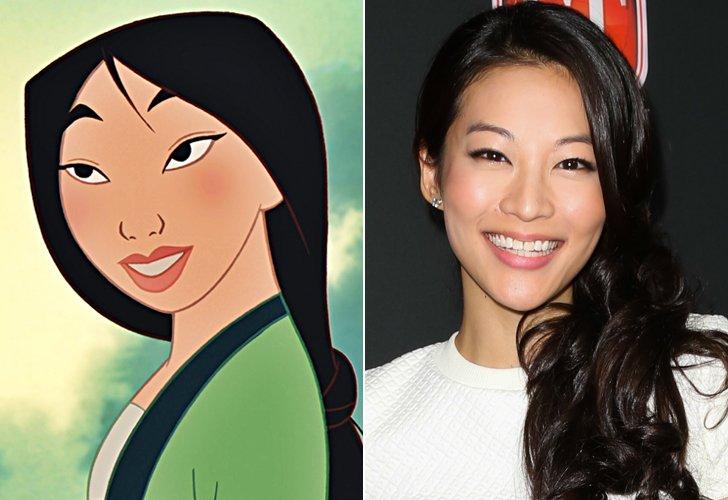 Mulan e a candidata ao papel, Arden Cho