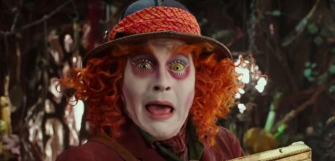 Johnny Depp em Alice Através do Espelho