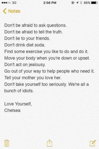 Bilhete de Chelsea Handler
