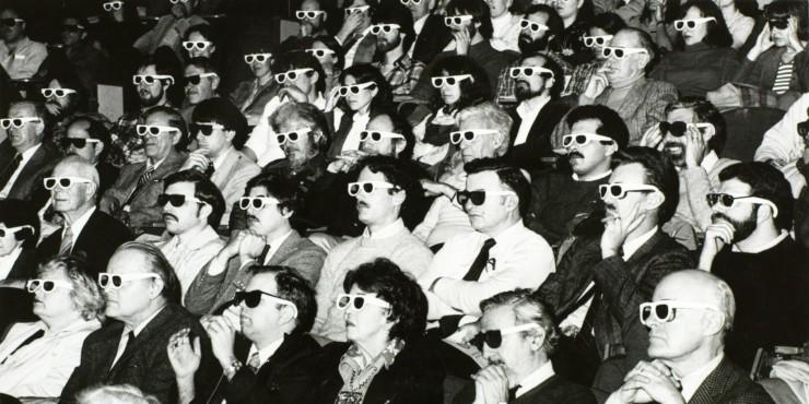 Público no cinema 3D