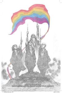 Imagem criada em homenagem as vítimas