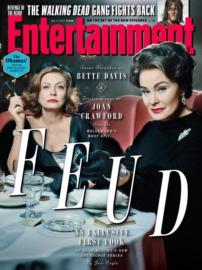 Capa da EW com as atrizes Susan Sarandon e Jessica Lange