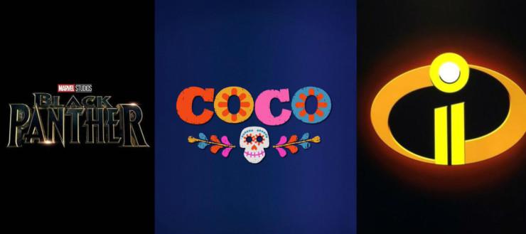 Pantera Negra, Coco e Os Incríveis 2