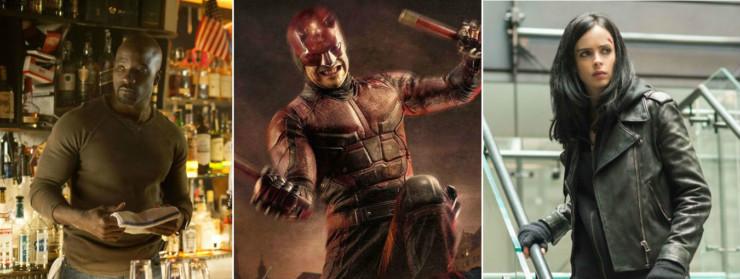 Luke Cage, Demolidor e Jessica Jones