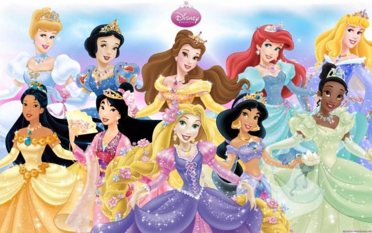 Reunião (parcial) das princesas da Disney