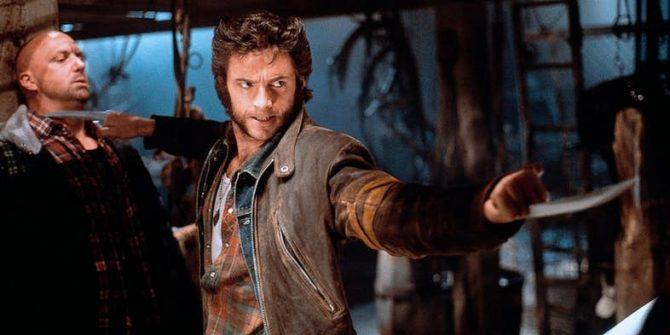 Hugh Jackman em X-Men (2000), de Bryan Singer.