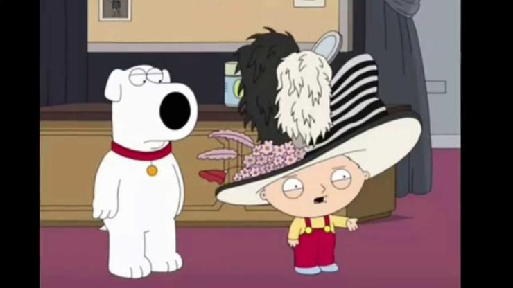 Stewie Griffin em Uma Família da Pesada.