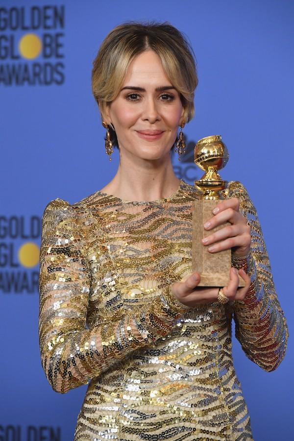 Sarah Paulson no Globo de Ouro