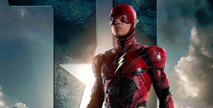 The Flash de Ezra Miller em Liga da Justiça