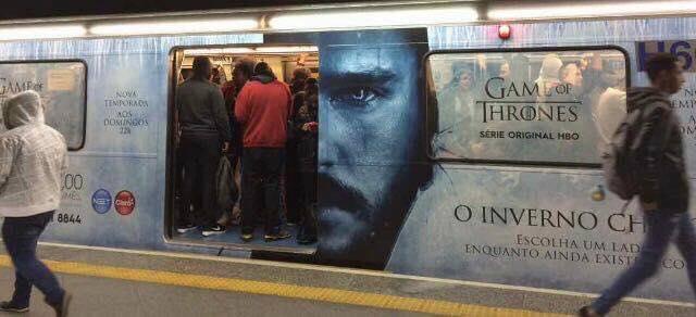 Trem personalizado de Game of Thrones em São Paulo