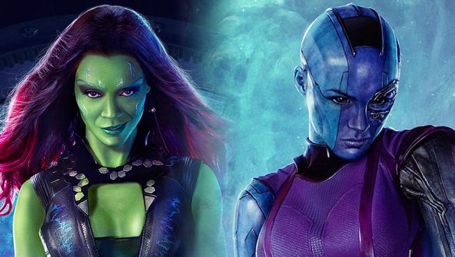 As meio -irmãs e filhas adotivas de Thanos, Gamora e Nebulosa.