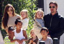 Angelina, Brad e os filhos