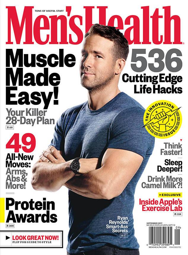 Ryan Reynolds na capa de Men's Health