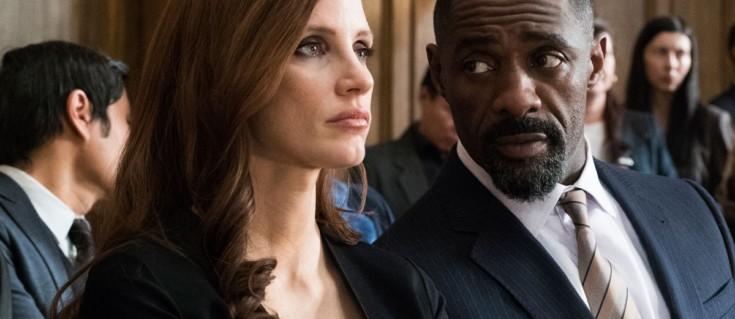 Jessica Chastain e Idris Elba em Molly's Game