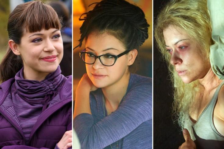 Três das faces de Tatiana Maslany em Orphan Black
