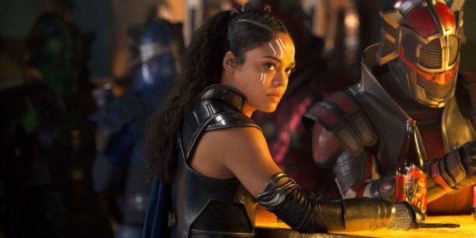 Tessa Thompson como Valkyrie em Thor: Ragnarok.