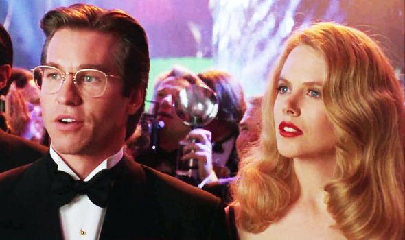 Val Kilmer e Nicole Kidman em Batman Eternamente