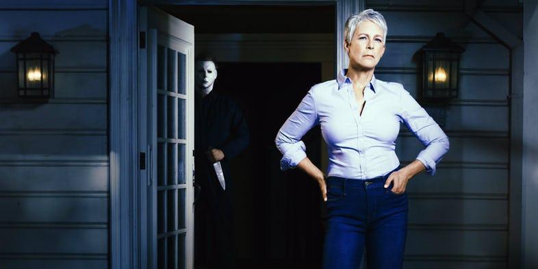 Jamie Lee Curtis no novo Halloween.