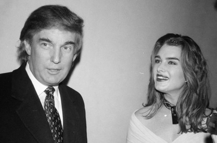 Brooke Shields revela que já levou cantada de Donald Trump