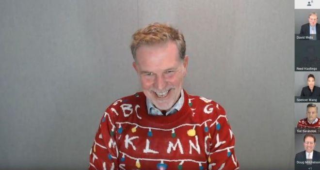 Reed Hastings com suéter de Stranger Things