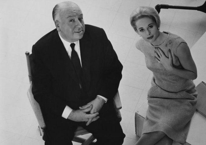 Alfred Hitchcock e Tippi Hedren promovem Os Pássaros