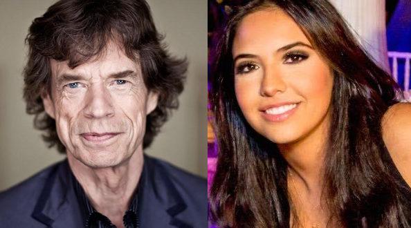 Mick Jagger aparece com affair 52 anos mais nova