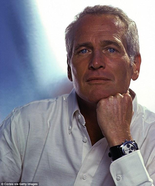 Paul Newman com o rolex leiloado