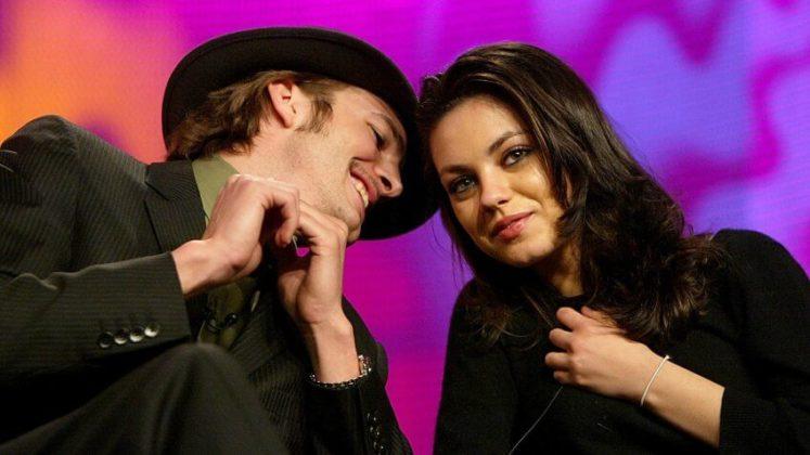 O casal Ashton Kutcher e Mila Kunis