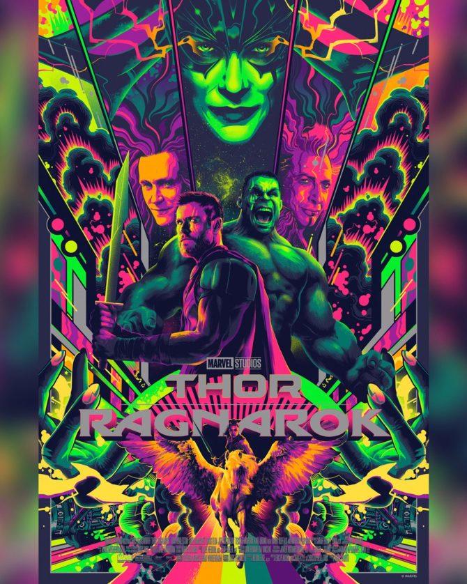 Pôster de Thor: Ragnarok feito por Mondo.
