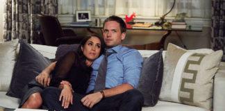 Patrick e Meghan em Suits, que deixam a 8ª temporada.